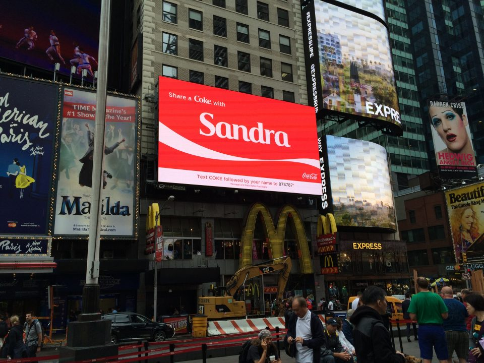 Coca Cola Times Square Digital OOH