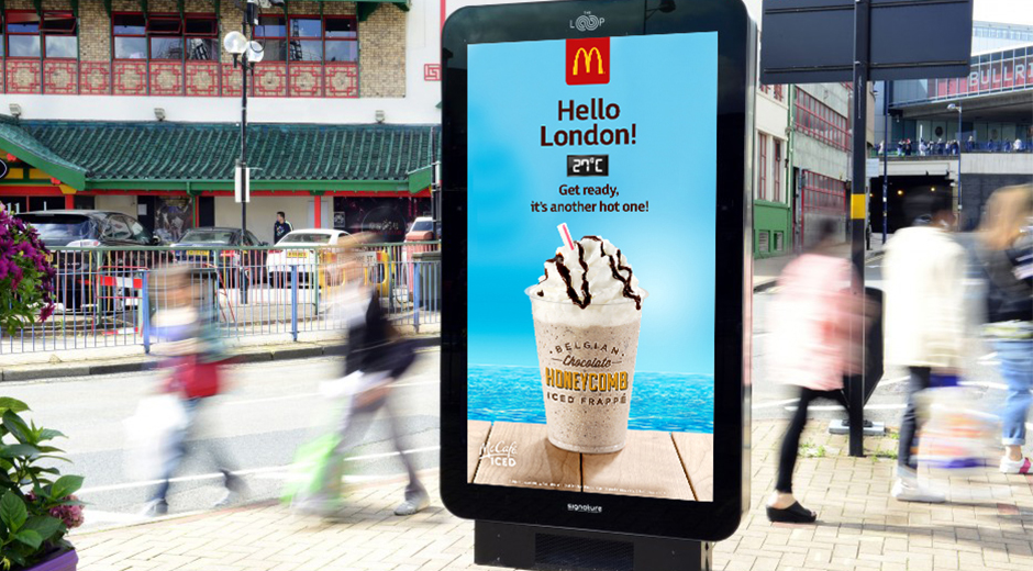 McCafé Iced dynamic digital OOH
