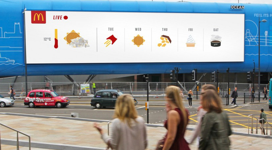 McDonald's McWeather Digital OOH