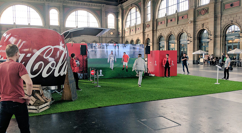 Coca-Cola Augmented Reality experience for FIFA World Cup 2018