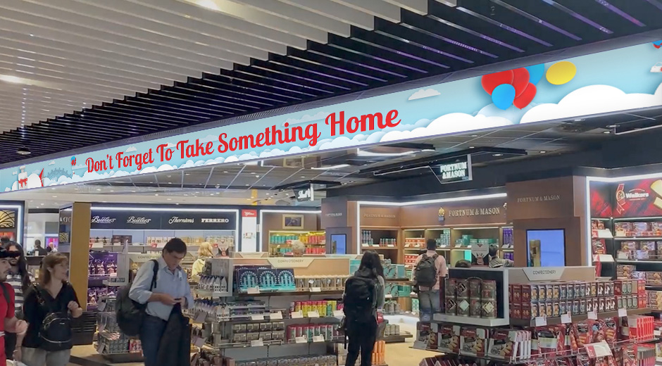 Dufry International Take Something Home Digital OOH