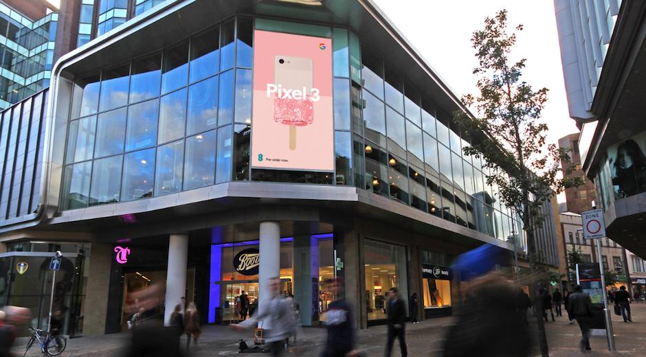 Google Pixel 3 Retail DOOH News