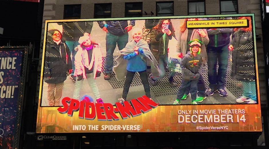 Spiderman: Into the Spider-verse digital OOH augmented reality