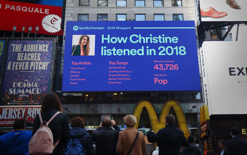 Spotify 2018 Wrapped Digital OOH