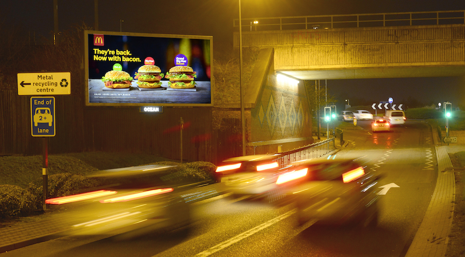 McDonald's digital OOH