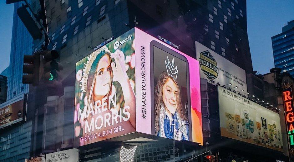 Spotify Maren Morris Digital OOH