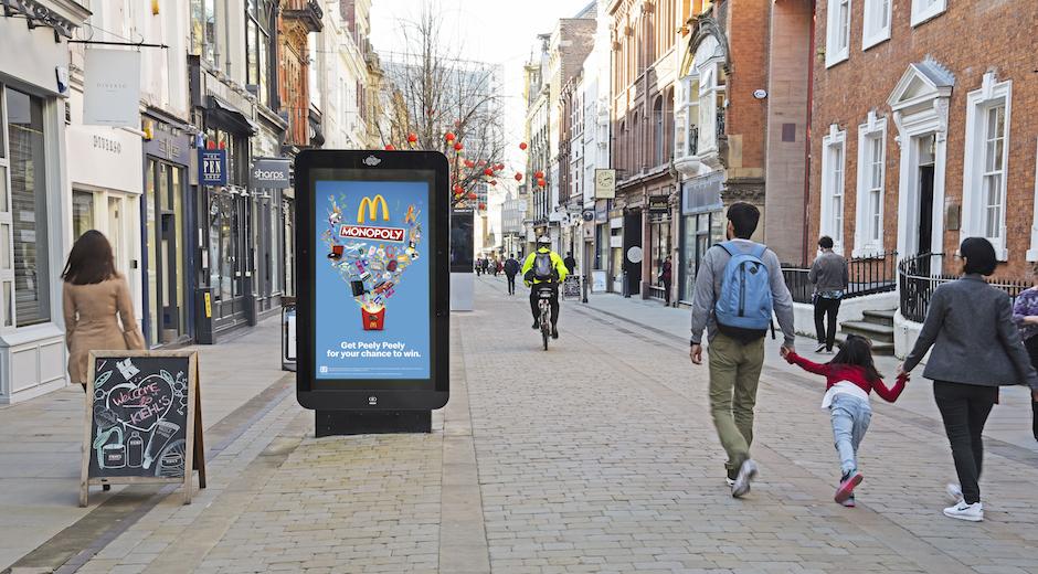 McDonald's Monopoly Digital OOH