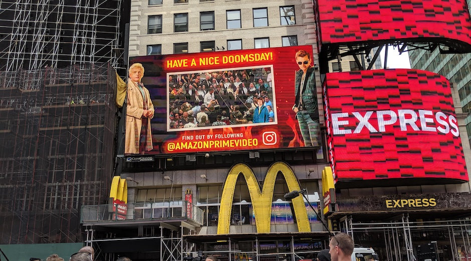Good Omens Times Square Mixed Reality Digital OOH