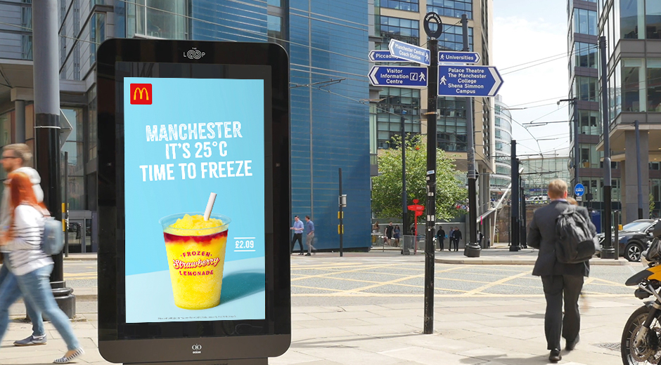 Weather Reactive Digital OOH - McDonald's McCafe Iced