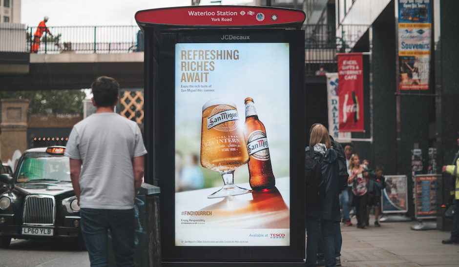 San Miguel Temperature Activated Digital OOH