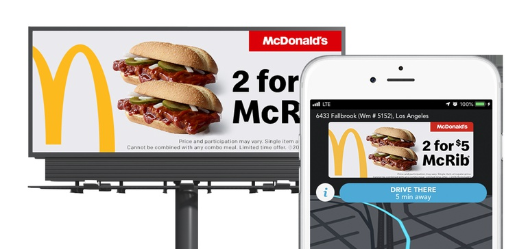 McDOnald's Waze Mobile and OOH Geofencing