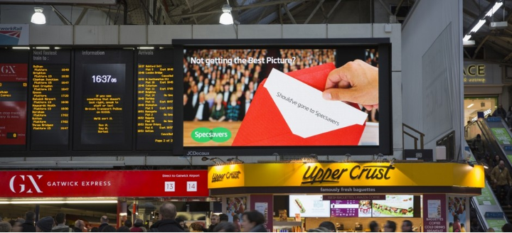 Specsavers Academy Awards Out of Home (OOH) campaign