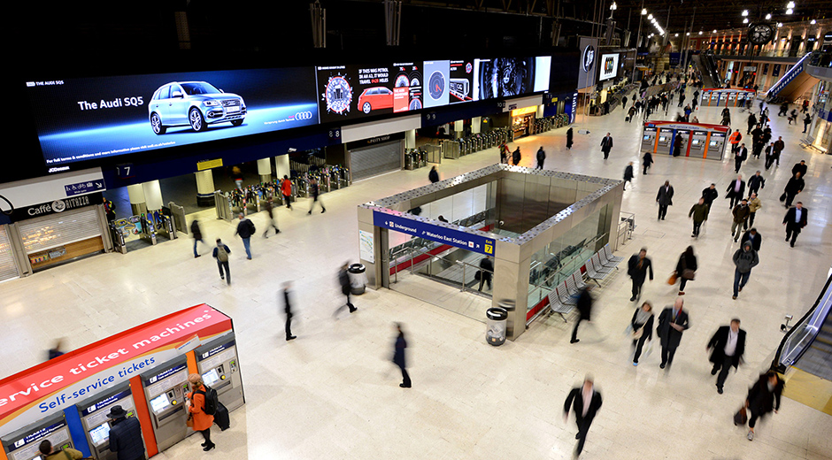 UK's Largest Indoor Advertising Screen Launches with Audi