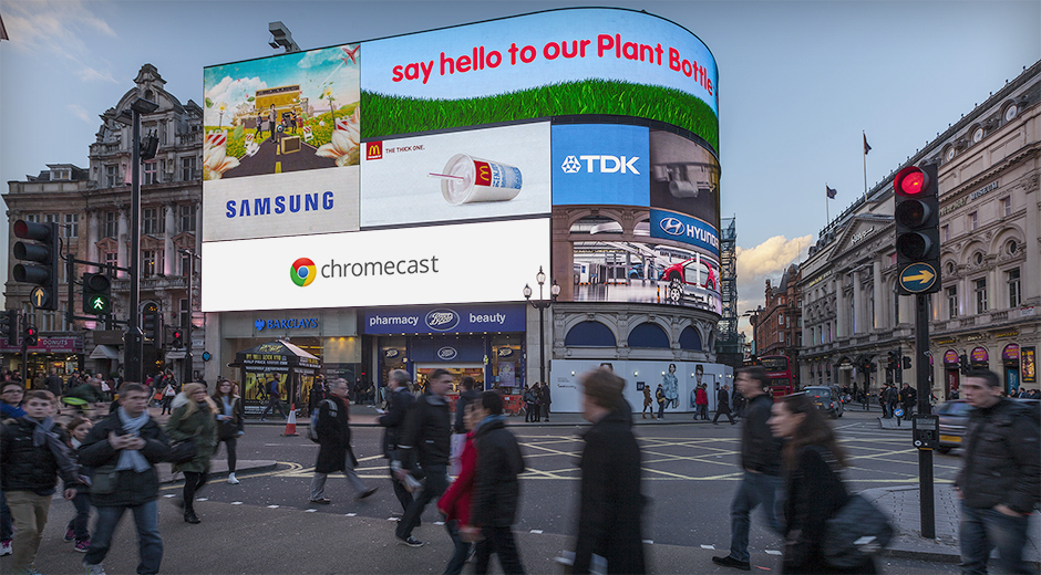 "Google Chromecast ""Everything you love now on your TV"""