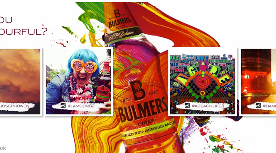 Bulmers Uses Digital Out of Home to Inspire Colourful Lives