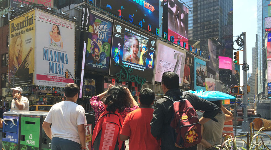 Inside Out in Times Square