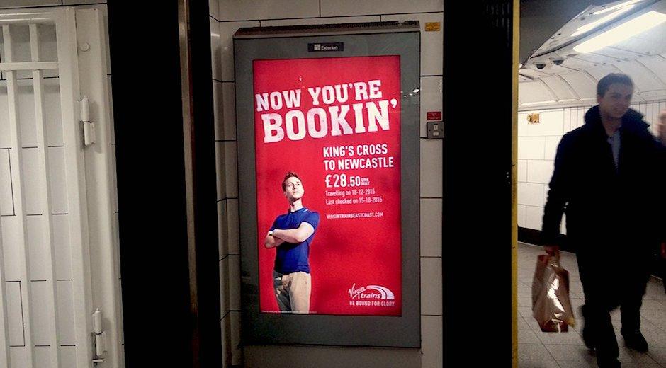 Virgin Trains East Coast Live Prices DOOH Promotion