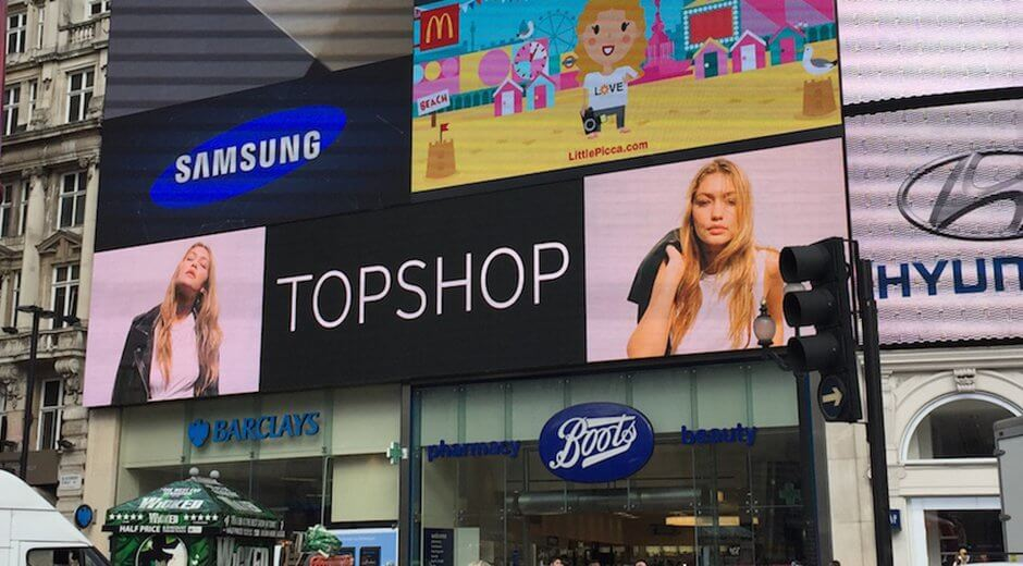 Topshop National DOOH