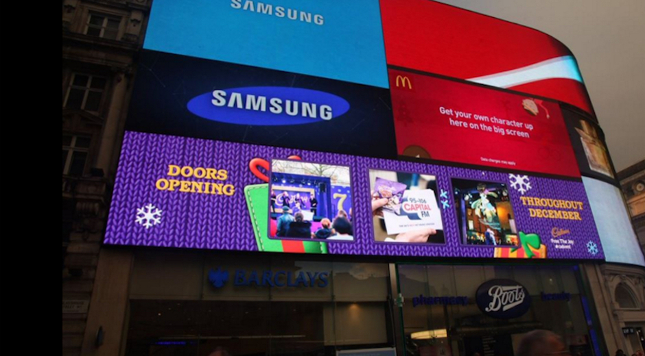 Cadbury Supports 'Biggest Ever' Christmas Campaign with DOOH