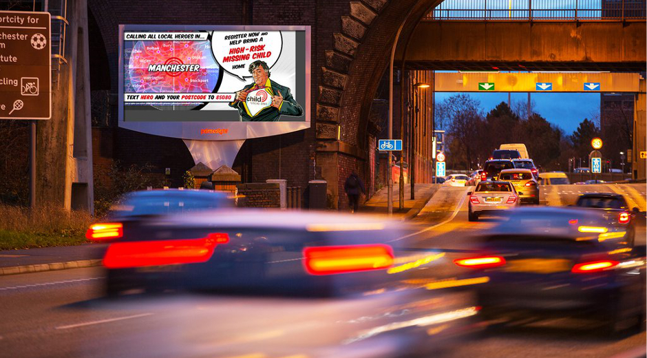 DOOH for Child Rescue Alert Grand Visual