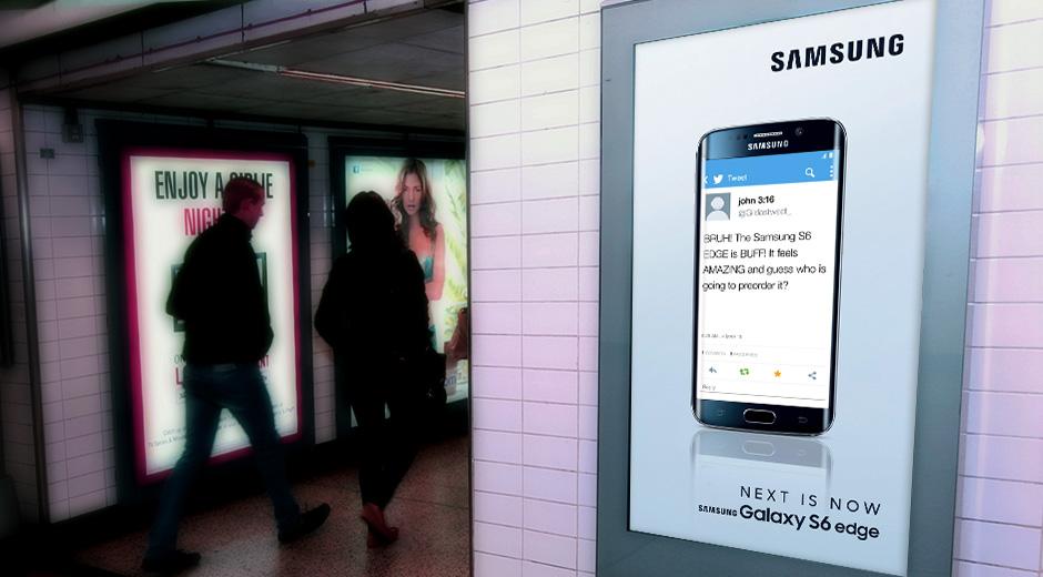 Samsung Enhance Launch of Galaxy S6 & S6 Edge Phone with DOOH