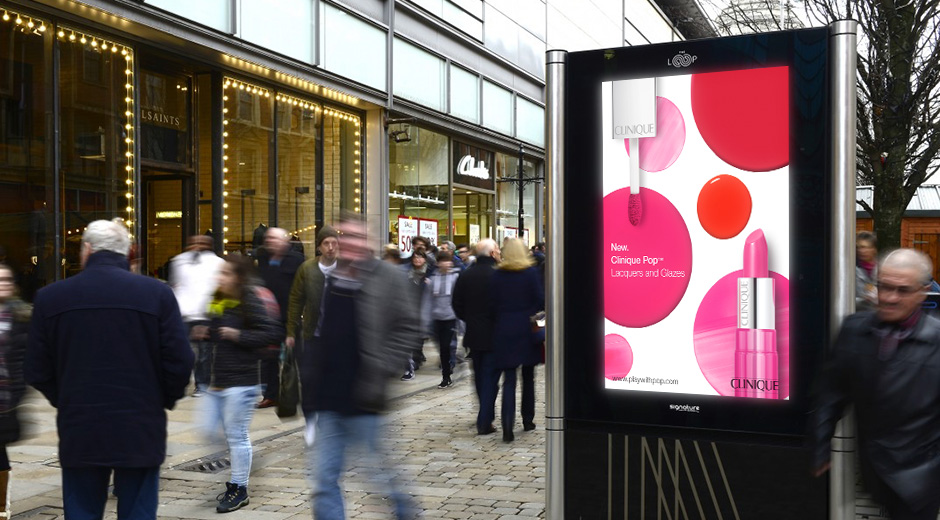Clinique Pop Artistry Range Promoted Across DOOH