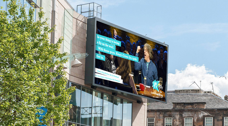 UKTV Uses Dynamic DOOH to Promote UKPlay On-Demand Offering
