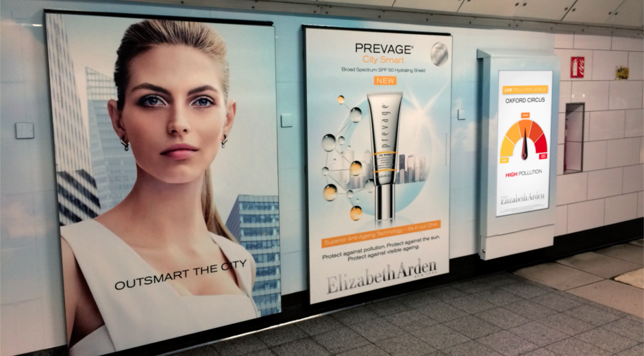 Pollution-Activated DOOH Campaign for Elizabeth Arden