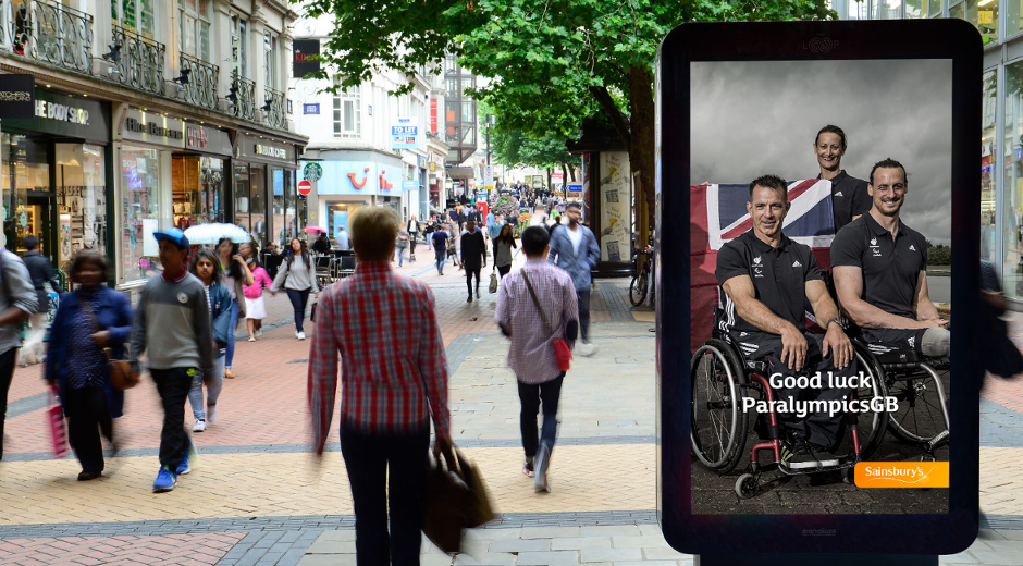 Sainsbury's Live DOOH Campaign Champions UK Paralympic Team
