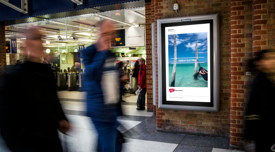 Dynamic DOOH helps Virgin Holidays #SeizeTheHoliday