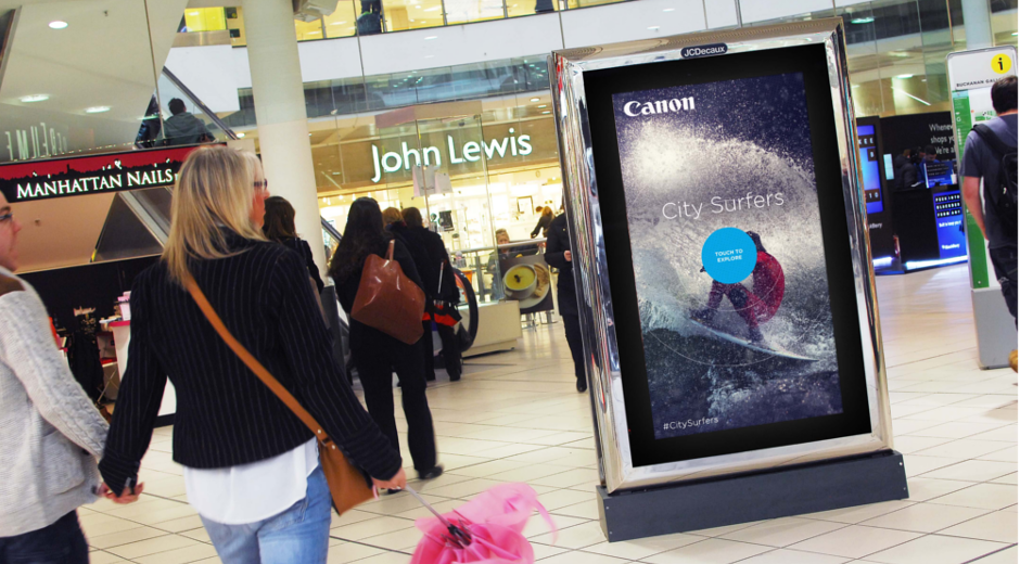 Canon Interactive Digital OOH Rides the Waves with Pan-European Campaign