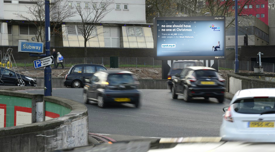 Age UK Launches Geo-targeted DOOH Campaign over the Christmas Period