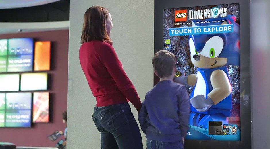 Interactive DOOH for LEGO® DIMENSIONS™