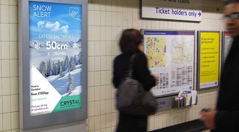 Crystal Ski Holidays Integrate Snow Reports into Real-Time DOOH