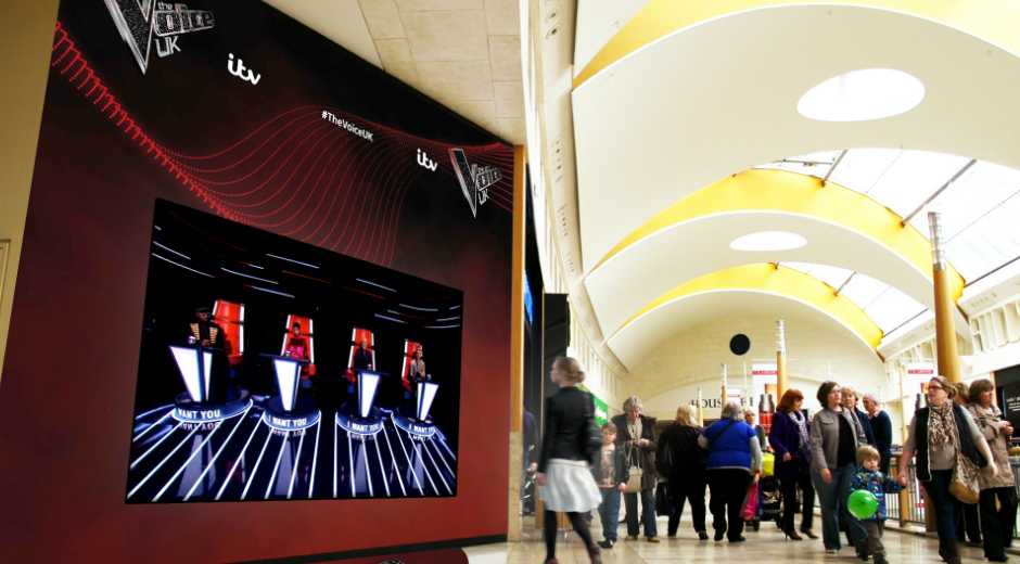 ITV's The Voice coaches spin for shoppers with Interactive DOOH