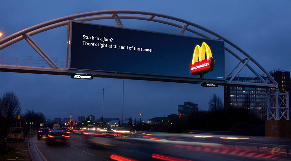 McDonald's Launches Tantalising Data-Driven Roadside Campaign